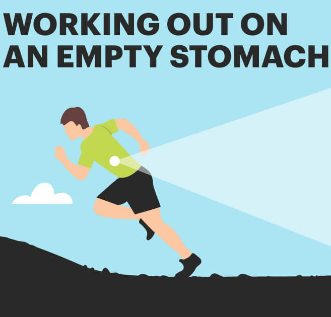 Exercising on an empty stomach