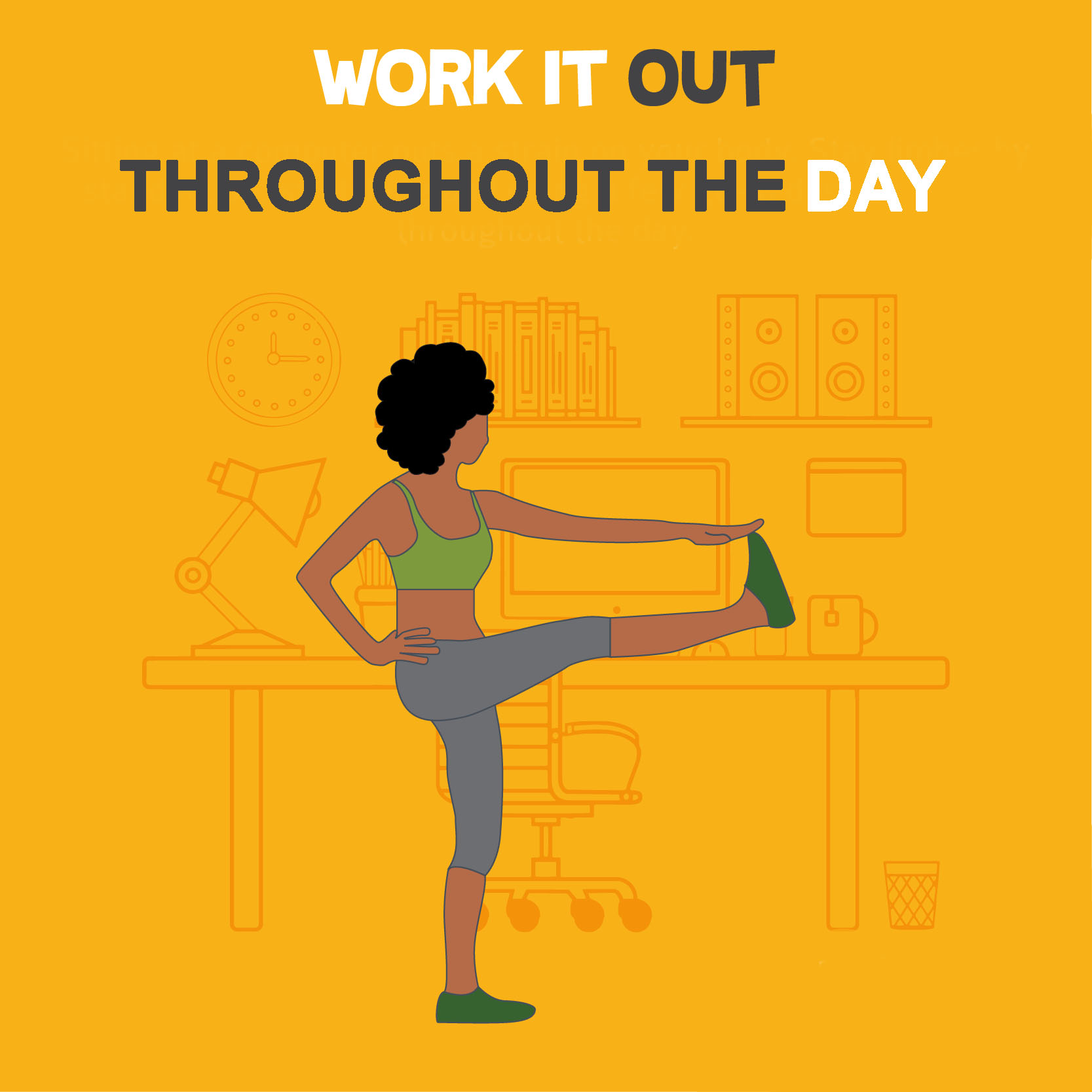 Working out throughout the day