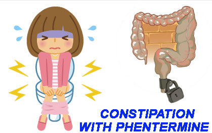 Constipation with phentermine